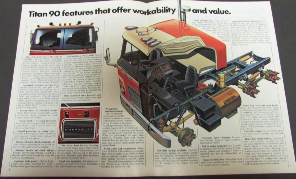 1975 Chevrolet Chevy Titan 90 Truck Dealer Sales Brochure