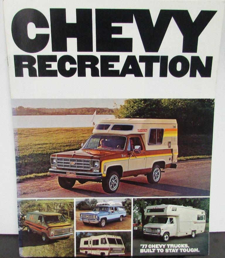 Original 1977 Chevrolet Truck Dealer Brochure Chevy Rv