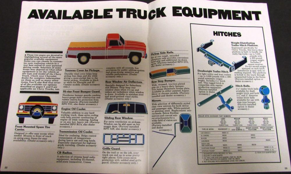 1977 chevy trailering car truck towing guide sales brochure original rh autopaper com 2015 chevy silverado trailering guide Old Chevy Trucks