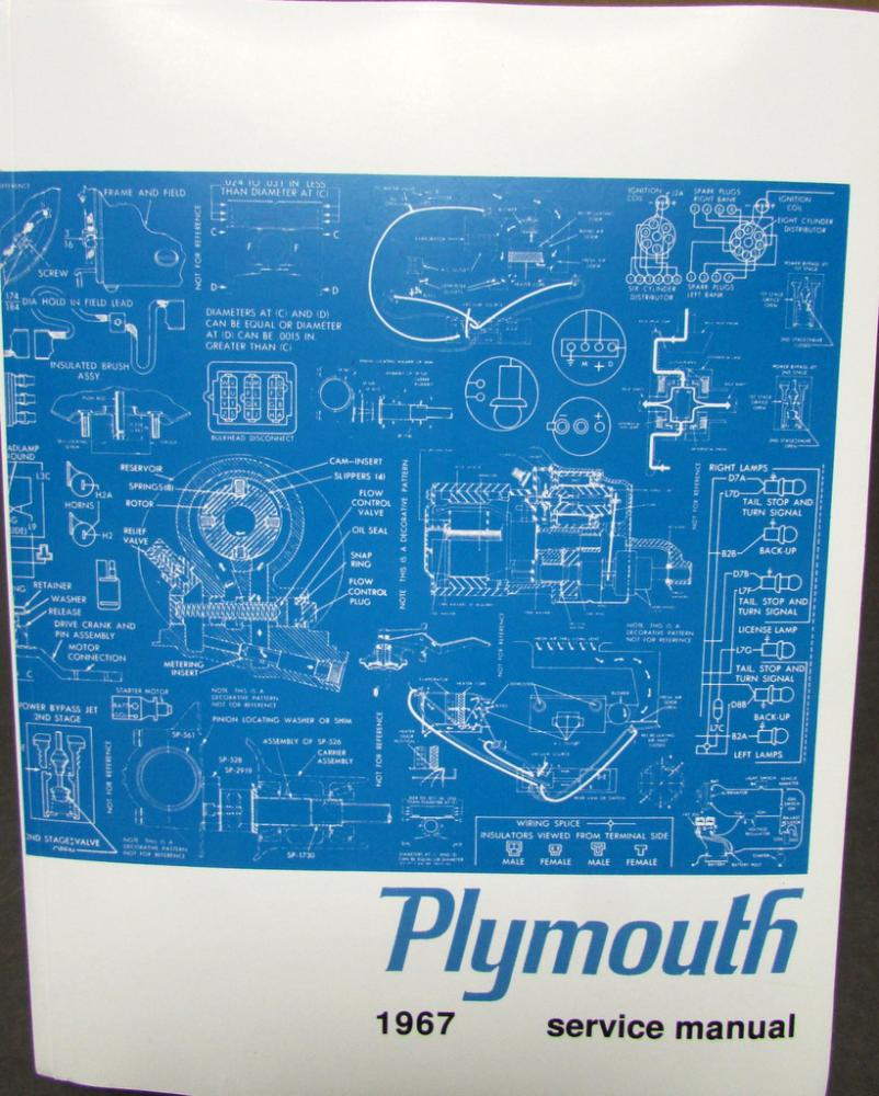 plymouth shop service manual hemi gtx satellite sport fury valiant 1967 plymouth shop service manual hemi gtx satellite sport fury valiant signet