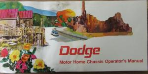 1974 Dodge Motor Home Chassis Owners Manual Instructions Original
