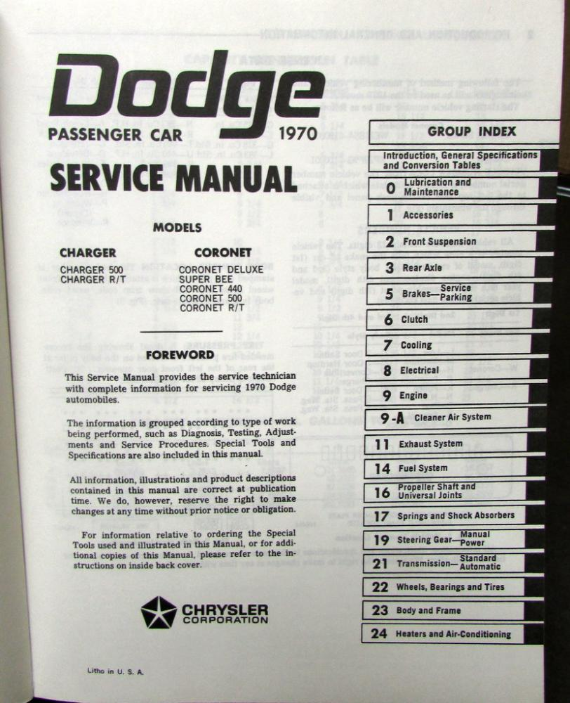 Dodge charger rt maintenance schedule user manuals 1970 dodge charger coronet super bee r t 440 6 pack hemi shop service manual fandeluxe Image collections