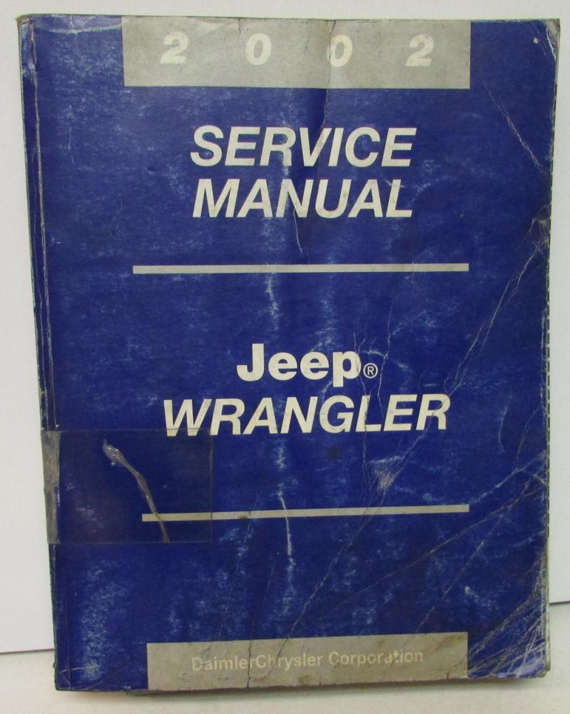 original 2002 jeep wrangler dealer service shop manual repair rh autopaper com 2002 Jeep Wrangler Sport 2002 jeep wrangler parts manual