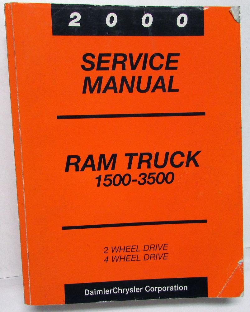 2000 Dodge Ram Truck Dealer Service Manual 1500 2500 3500 Pickup Diesel Gas