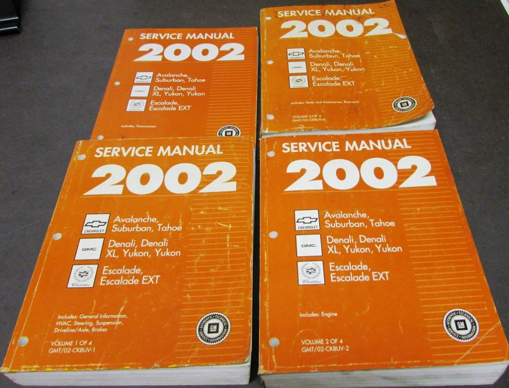 2002 chevy gmc cadillac service manual avalanche suburban tahoe rh autopaper com 2002 suburban service manual pdf 2002 chevrolet suburban service manual