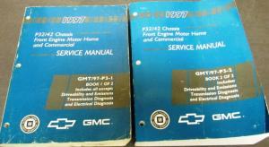 1997 Chevrolet GMC Service Manual P32 P42 Front Engine Motor Home Commercial