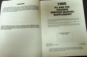 1995 Chevrolet GMC Service Shop Manual PG & P3 Chassis Repair
