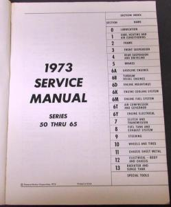 Original 1973 Chevrolet Dealer Truck Service Manual Medium Duty Series 50-65