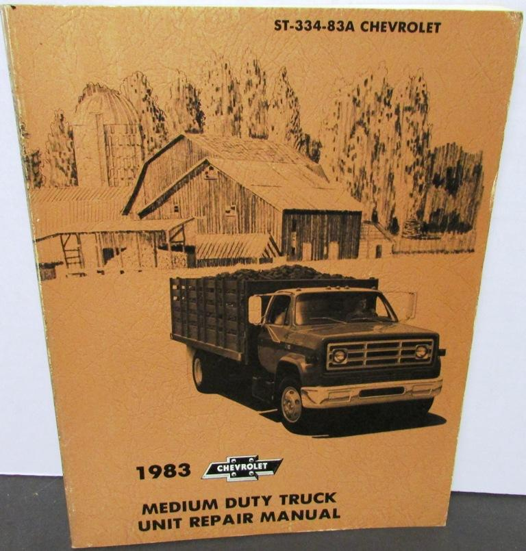 Original 1983 Chevy Dealer Truck Service Unit Repair Manual Medium Duty 40-60