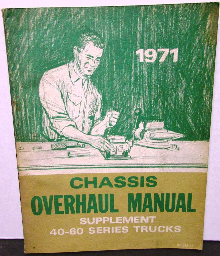 Original 1971 Chevy Dealer Truck Overhaul Manual Supplement Medium Duty 40-60