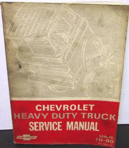 Original 1970 Chevrolet Dealer Truck Service Manual Heavy Duty 70-90