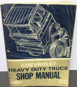 Original 1967 Chevrolet Dealer Truck Service Shop Manual Heavy Duty 70-80