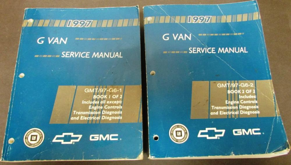 1997 Chevrolet GMC Truck Dealer Service Shop Manual Set G Van Savana Express