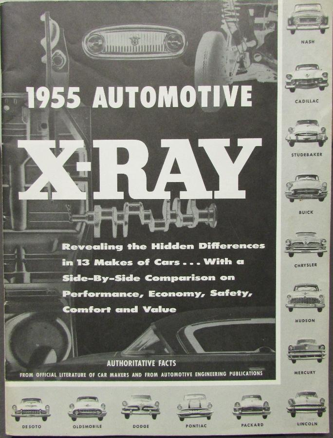 1955 AMC NASH Ambassador & Statesman X-Ray Comparison Sales Brochure Original