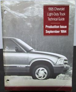 1995 Chevrolet Light-Duty Truck Dealer Technical Guide Data Book Blazer Pickup