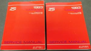1993 Chevrolet Truck Dealer Service Shop Manual Set Lumina APV Mini-van Repair