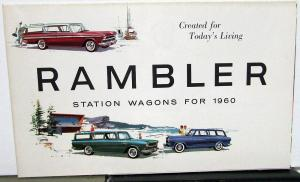 1960 American Motors AMC Rambler Station Wagons Sales Brochure Original