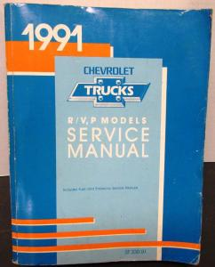 1991 Chevrolet Truck Dealer Service Shop Manual R/V P Models Suburban Utility