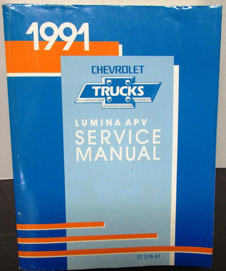 1991 Chevrolet Truck Dealer Service Shop Manual Lumina APV Van Repair