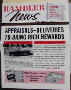 1961 Rambler News Vol 4 No 10 Selling Info Dealers & Salesmen Original