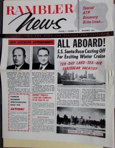 1961 Rambler News Vol 5 No 10 Selling Info Dealers & Salesmen Original