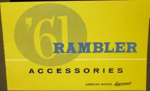 NOS 1961 AMC Rambler Accessories Color Sales Brochure Catalog