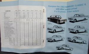 1963 AMC X-Ray Rambler Compared to Other Makes & Models Sales Brochure