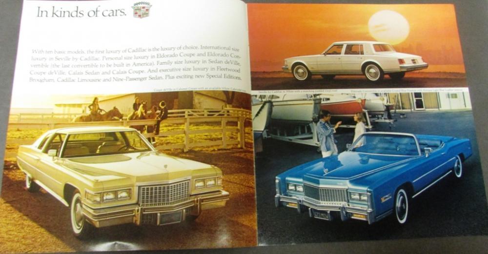 1976 1977 Cadillac Dealer Sales Brochure Set Seville Coupe deVille