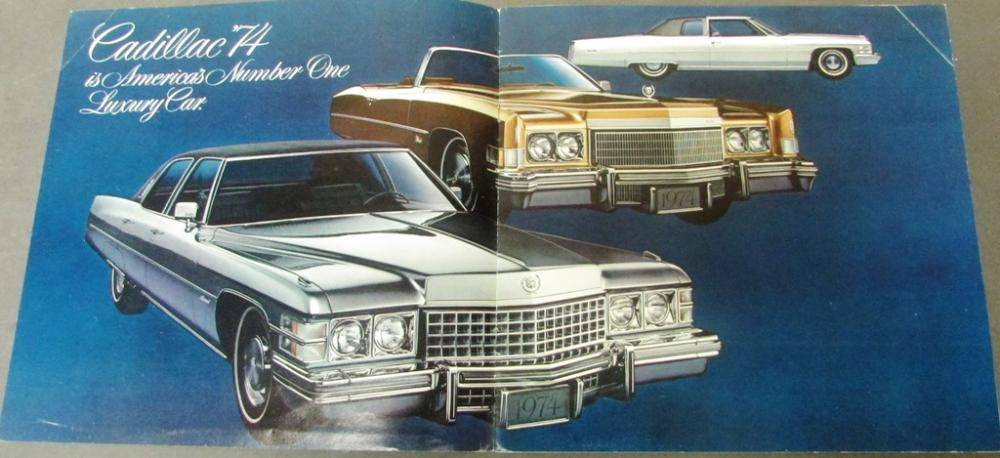 1973 1974 1975 Cadillac Dealer Sales Brochure Set Calais