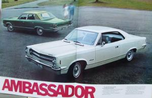 1968 AMC American Motors Javelin Rebel American Ambassador Color Sales Brochure