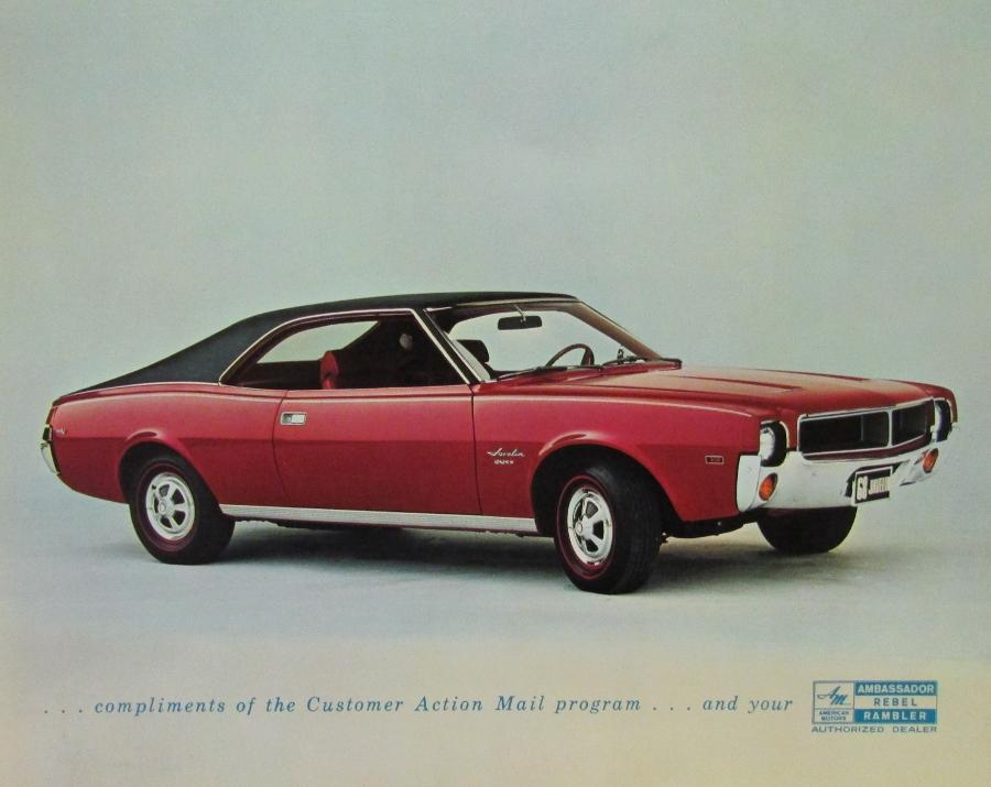 1968 AMC American Motors Javelin SST Color Original Photo Card