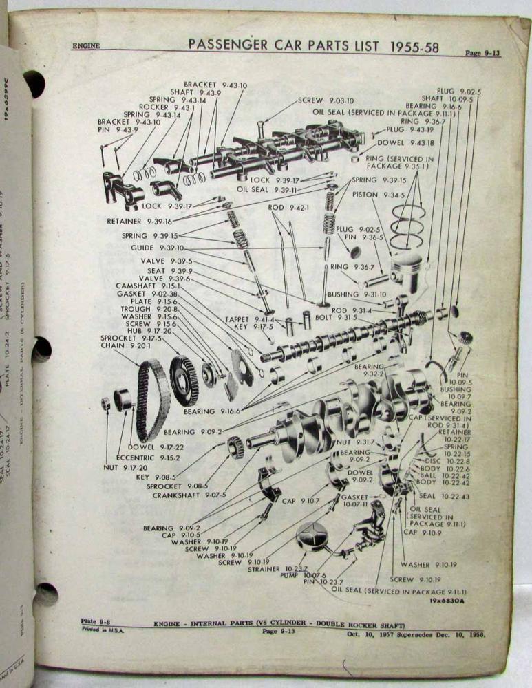 dodge parts diagram 1955 1956 1957 1958 chrysler mopar parts book manual plymouth  1955 1956 1957 1958 chrysler mopar