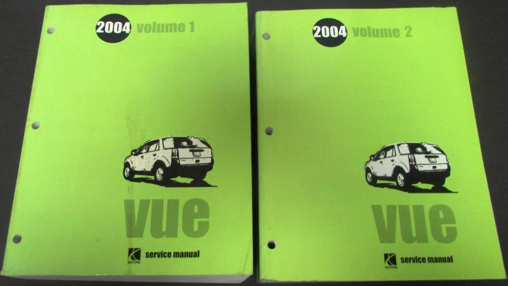 2004 saturn vue dealer service shop repair manual set original rh autopaper com 2004 saturn vue service manual pdf 2004 Saturn Vue 3.5 Problems