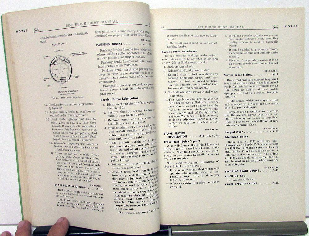 Original 1939 Buick Service Shop Manual Special Roadmaster ...