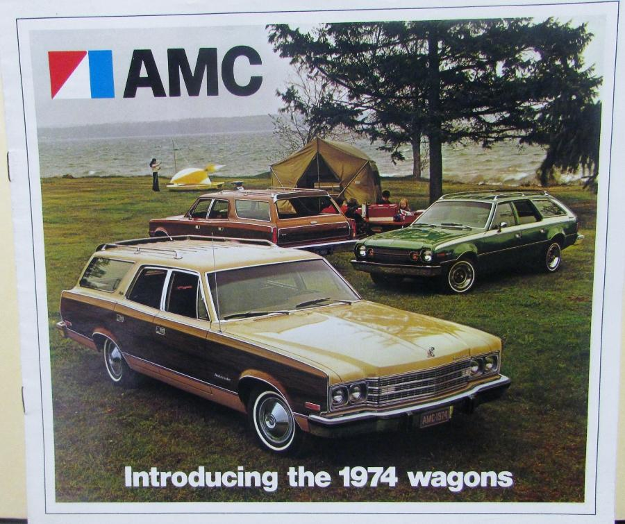 1974 AMC Ambassador Hornet Matador Station Wagons Color Sale Brochure