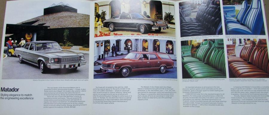 1975 Amc Matador Original Color Sales Brochure Folder
