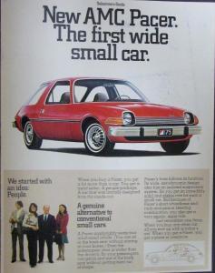 1975 Amc Pacer Small Car Sales Brochure Folder Original