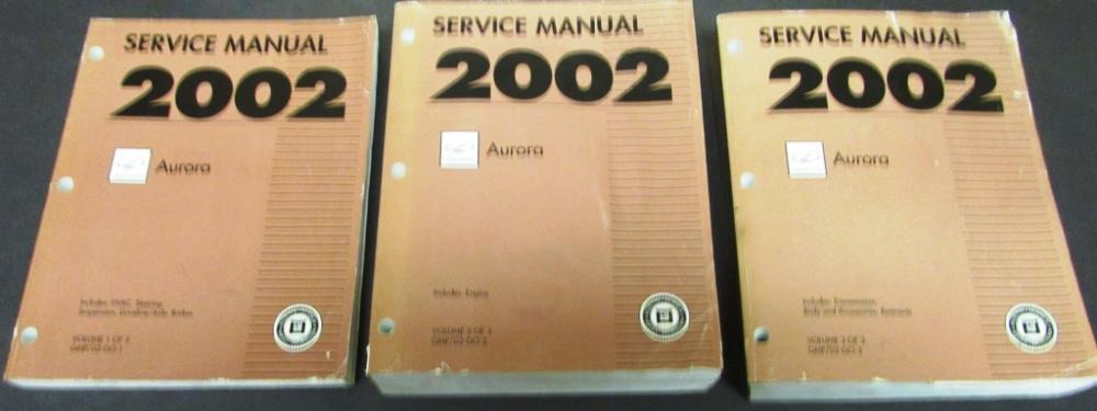 2002 oldsmobile aurora dealer service shop manual set repair engine rh autopaper com 1999 Oldsmobile Aurora Problems Oldsmobile Aurora Repair Guide