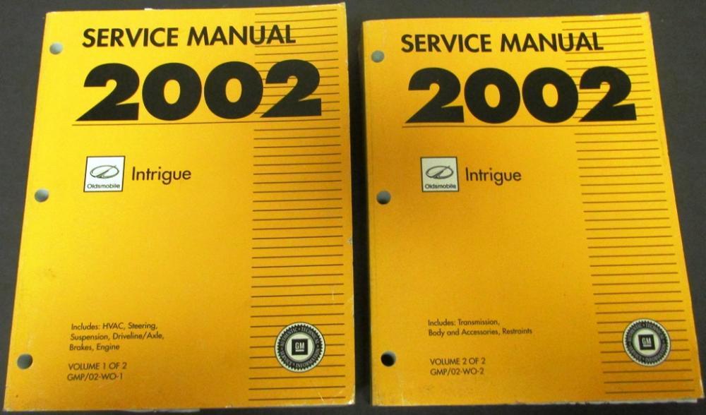 2002 oldsmobile intrigue dealer service shop manual set ... daewoo car manuals wiring diagrams pdf oldsmobile owners manuals repair wiring diagrams