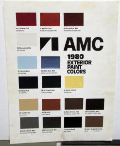 1980 AMC Color Paint Chips