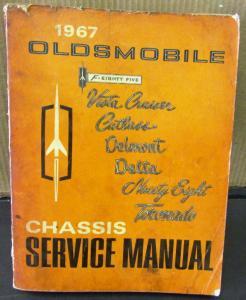 original 1967 oldsmobile service shop manual f 85 cutlass. Black Bedroom Furniture Sets. Home Design Ideas