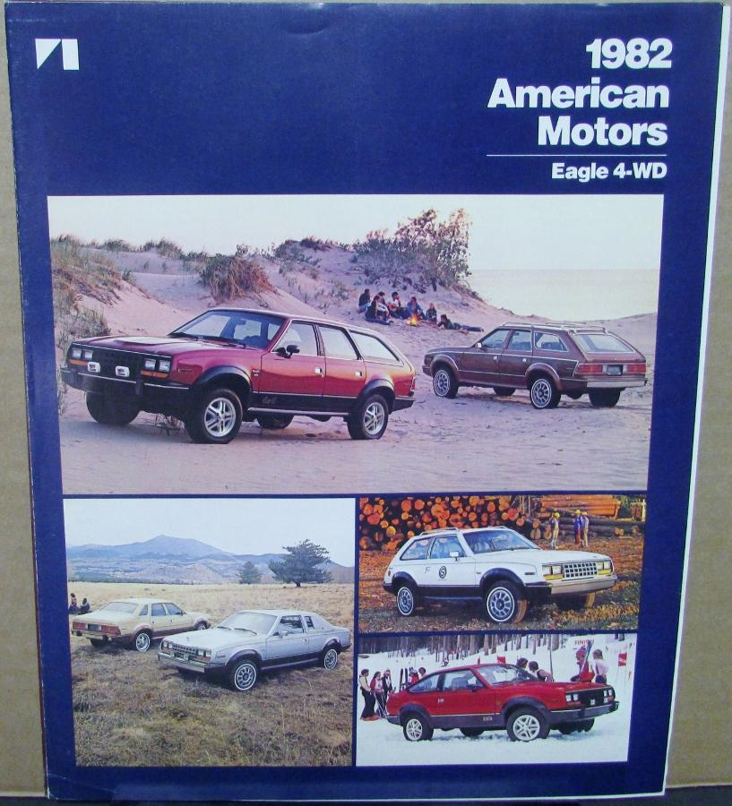 1982 American Motors Eagle 4WD Sales Brochure Folder Original