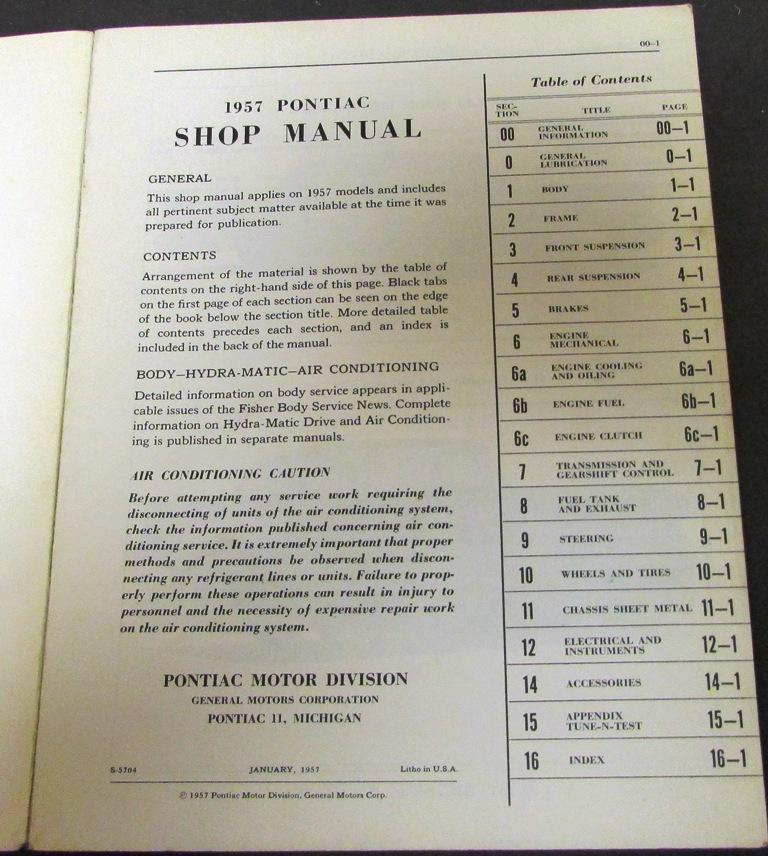 1957 pontiac service shop manual star chief super chief chieftain repair rh autopaper com 1955 Pontiac 1956 Pontiac