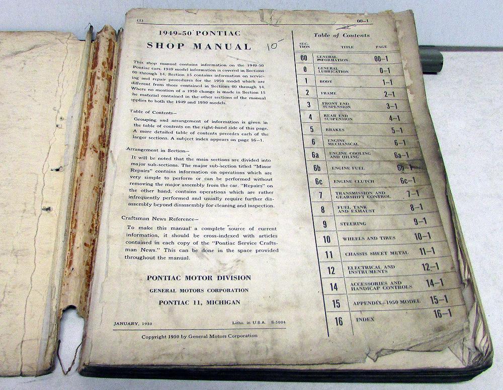 1949 1950 pontiac service shop manual chieftain silver ... 1953 pontiac chieftain wiring diagram 1953 ford naa wiring diagram #14