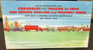 Original 1954 Chevrolet Truck Dealer Sales Brochure Pickup Panel H/D School Bus