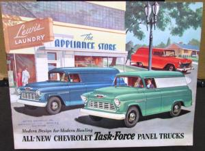 Original 1955 2nd Series Chevrolet Truck Sales Brochure Panel Sedan Delivery