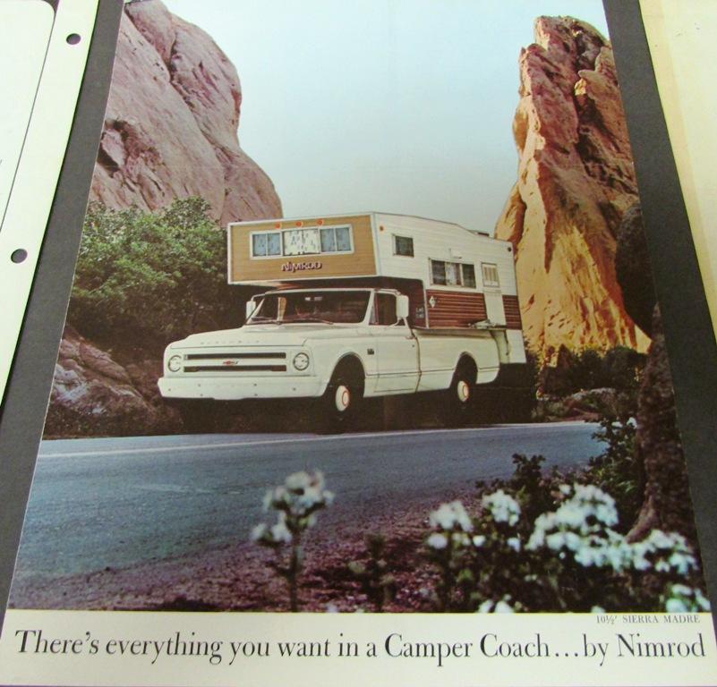 1960s-70s Chevrolet Ford Dodge RV Truck Camper Brochures ...