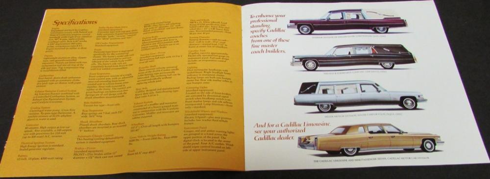 Original 1974 Cadillac Professional & Limousine Hearse