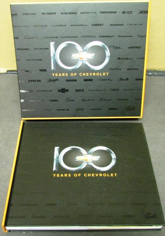 New 100 Years Of Chevrolet History Of Chevy Hardbound Book