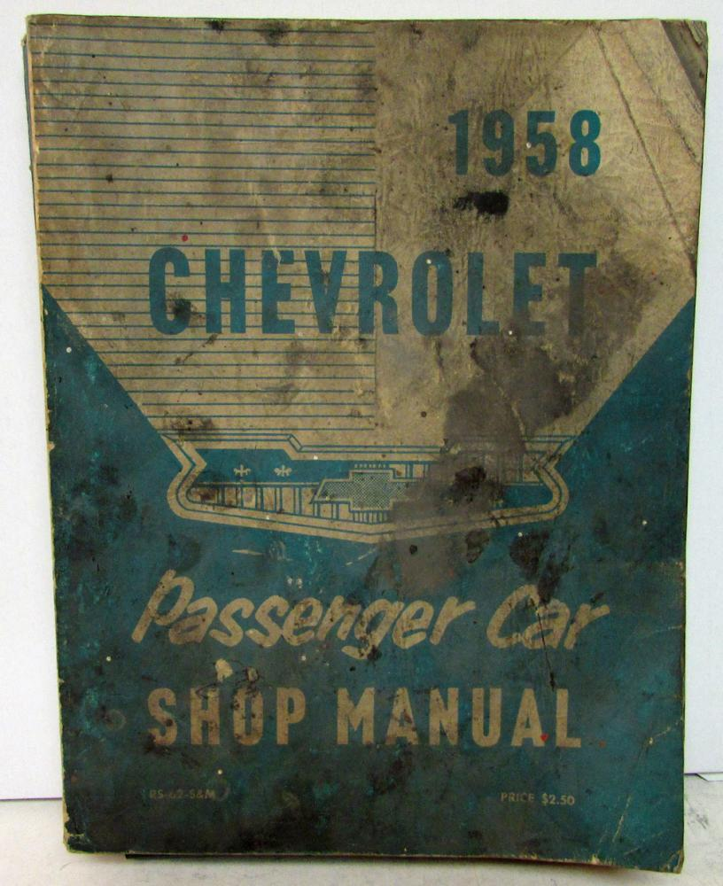 1958 chevrolet service shop manual biscayne bel air delray for Nomad service